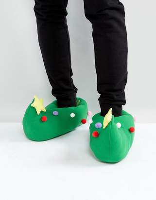 Dunlop Holidays Tree Slippers