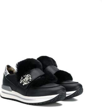 Roberto Cavalli Junior touch strap sneakers