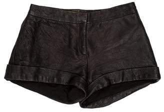 The Row Leather Mini Shorts