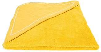 Knot embroidered towel