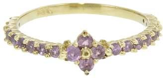 Ruta Reifen Garnet Clover Ring - Yellow Gold