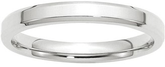 Wedding Bands USA 14KW 3mm Bevel Edge Comfort Fit Band Size 7