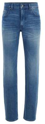 BOSS Relaxed-fit jeans in light-blue comfort-stretch denim