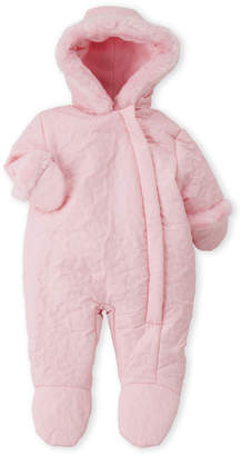 R & E Rothschild (Newborn Girls) Pink Butterfly Quilted Pram