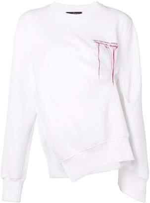 Rokh asymmetric slit sweatshirt