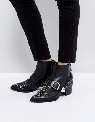 Raid Steph Stud Detail Mid Heeled Ankle Boots
