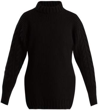 CECILIE BAHNSEN Anila contrast-knit wool sweater