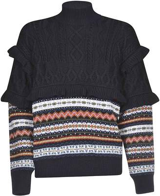 Philosophy di Lorenzo Serafini Puff Ruffle Trim Sweater