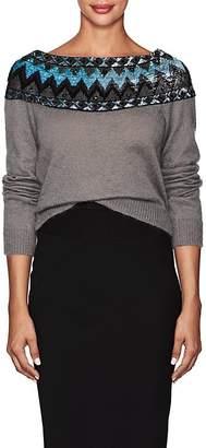 Alberta Ferretti Women's Sequined Mohair-Blend Sweater