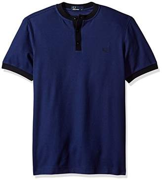 Fred Perry Men's Henley Collar Pique Shirt