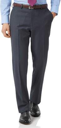 Charles Tyrwhitt Steel Blue Classic Fit Twill Business Suit Wool Pants Size W34 L34