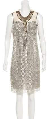 Anna Sui Embellished Metallic Dress