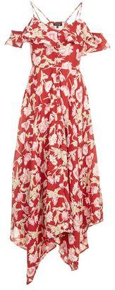 Topshop Hanky hem floral dress