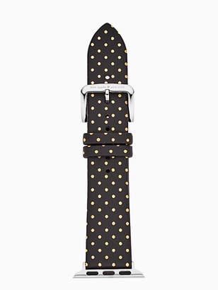 Kate Spade Black dot leather 38/40mm apple watch® strap