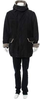 Lanvin Shearling Trim Jacket