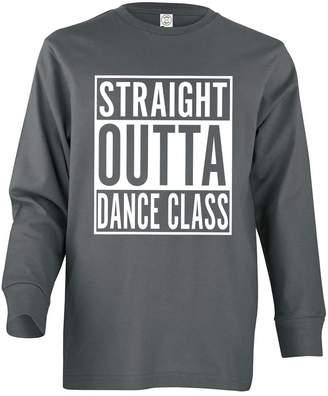 Dance Class Tenacitee Girl's Youth Straight Outta Long Sleeve T-Shirt