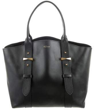Alexander McQueen Leather Tote Bag Black Leather Tote Bag