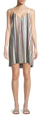 1 STATE 1.STATE Striped Intverted Pleat Dress