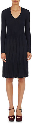 Giorgio Armani Women's Cashmere-Silk V-Neck Pleated Dress-NAVY $1,079 thestylecure.com