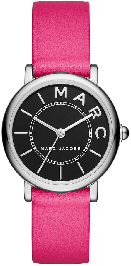 Marc By Marc JacobsMarc by Marc Jacobs Women's Roxy Fuchsia Leather Strap Watch 28mm MJ1540