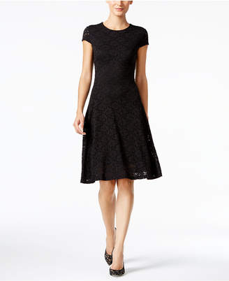 Alfani Lace Fit & Flare Dress, Created for Macy's
