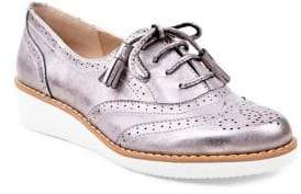 Adrienne Vittadini Trink Metallic Wingtip Oxfords