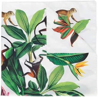 Oscar de la Renta jungle print twill scarf