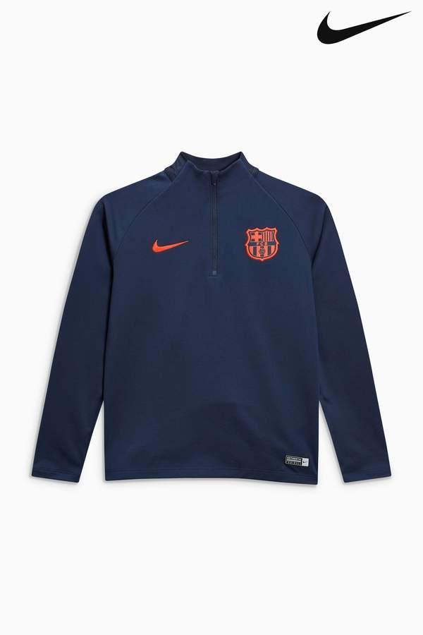 Boys Nike Dry FC Barcelona Squad Drill Top - Blue