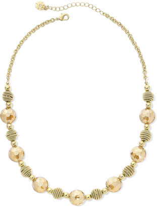 MONET JEWELRY Monet Yellow Stone Gold-Tone Collar Necklace $32 thestylecure.com