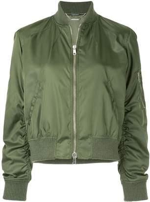 Alexander McQueen cropped bomber jacket