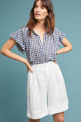 Cp Shades Linen High-Waisted Shorts