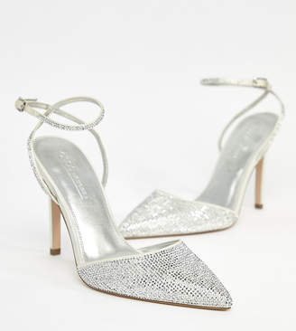 Asos Design DESIGN Pharaoh bridal embellished high heels