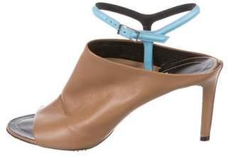 Balenciaga Leather Mid-Heel Sandals