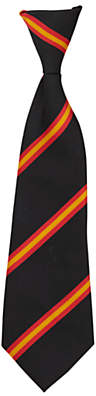 Unbranded St John's College Unisex Elasticated Tie, Black/Red