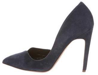 Rupert Sanderson Suede & Leather Pointed Pumps