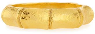 Jose & Maria Barrera Hammered Golden Bamboo Hinge Bracelet