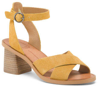 39ae3ddf457c Yellow Heels With Ankle Strap - ShopStyle