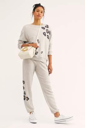 Monrow Seamed Leopard Print Sweatshirt