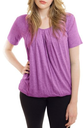 Women's Nurture-Elle Pleated Short Sleeve Nursing Top $49 thestylecure.com