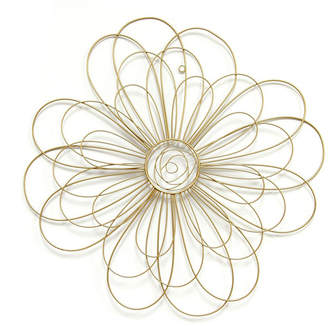 Stratton Home Decor Gold Wire Flower
