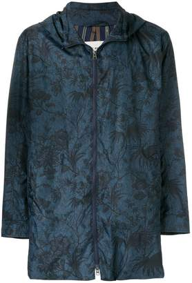 Etro floral print hooded jacket