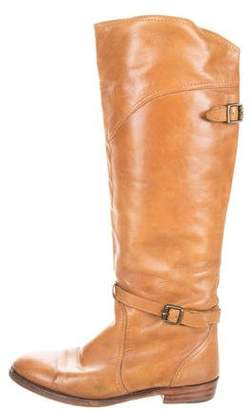 Frye Distressed Knee-High Boots
