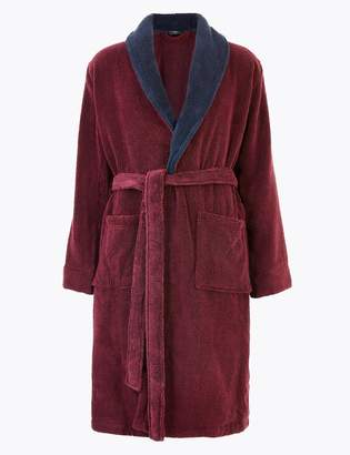 Marks and Spencer Supersoft Cotton Towelling Dressing Gown