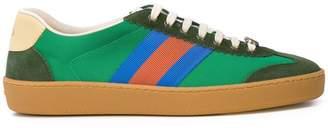 Gucci G74 Web stripe sneakers