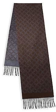 Brioni Men's Logo Silk & Cashmere Scarf