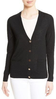 Women's Tory Burch Madeline Merino Wool Cardigan $225 thestylecure.com