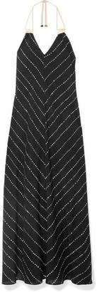 Vix Printed Voile Maxi Dress - Black