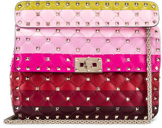 Valentino Medium Rockstud Spike Shoulder Bag in Multicolor | FWRD