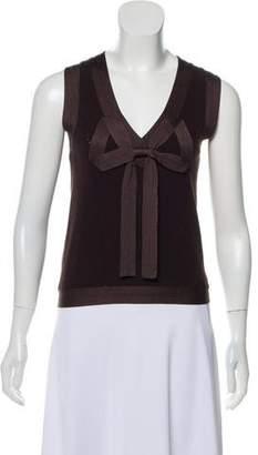 Kenzo Silk Blend Sleeveless Top