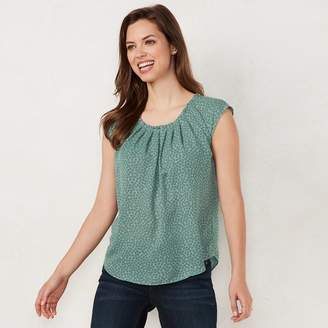 Lauren Conrad Petite Pleated Top